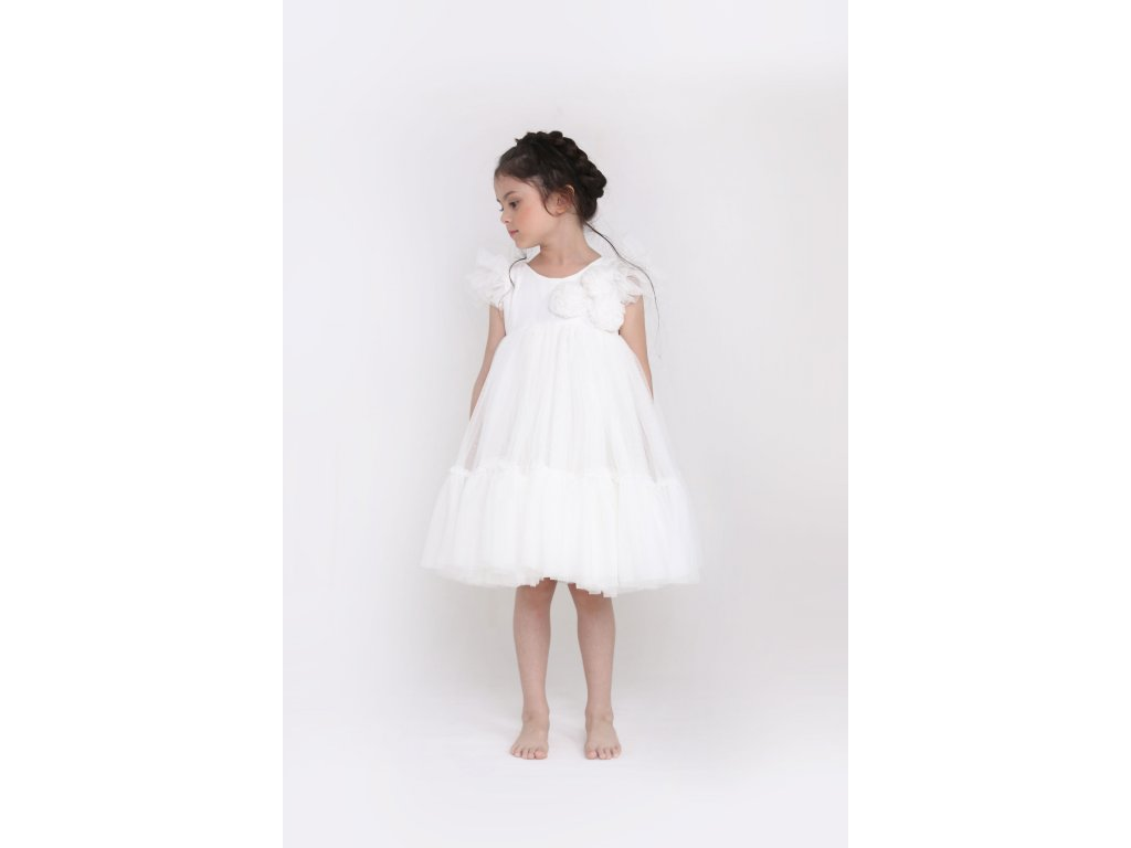 Spinkie Tutu Pom-Pom šaty , white