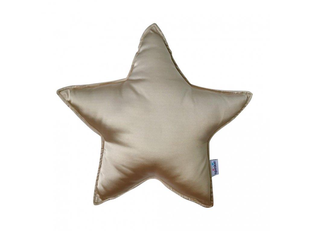Hodvábny vankúš hviezda Pale Gold