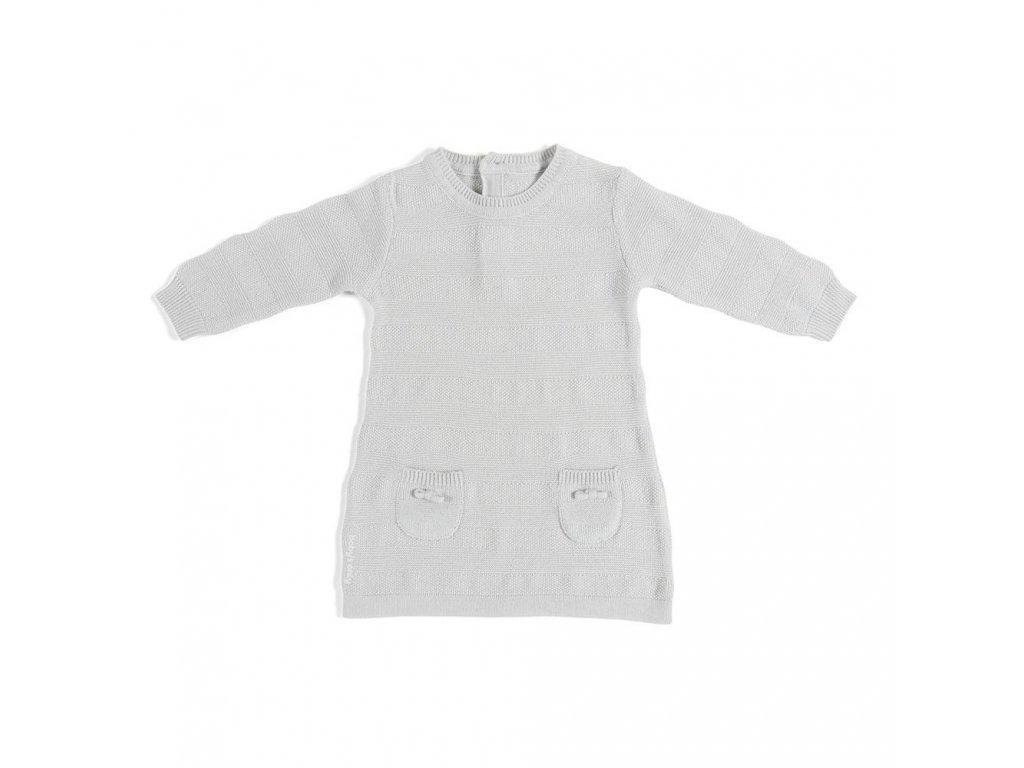 Baby´s only BIO bavlnené šaty Stripes šedé