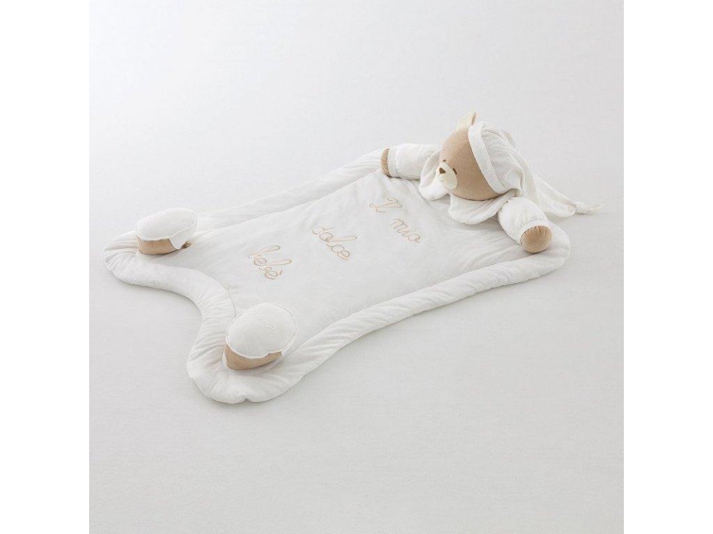 Nanán  plyšový koberec Tato 140x100cm biely