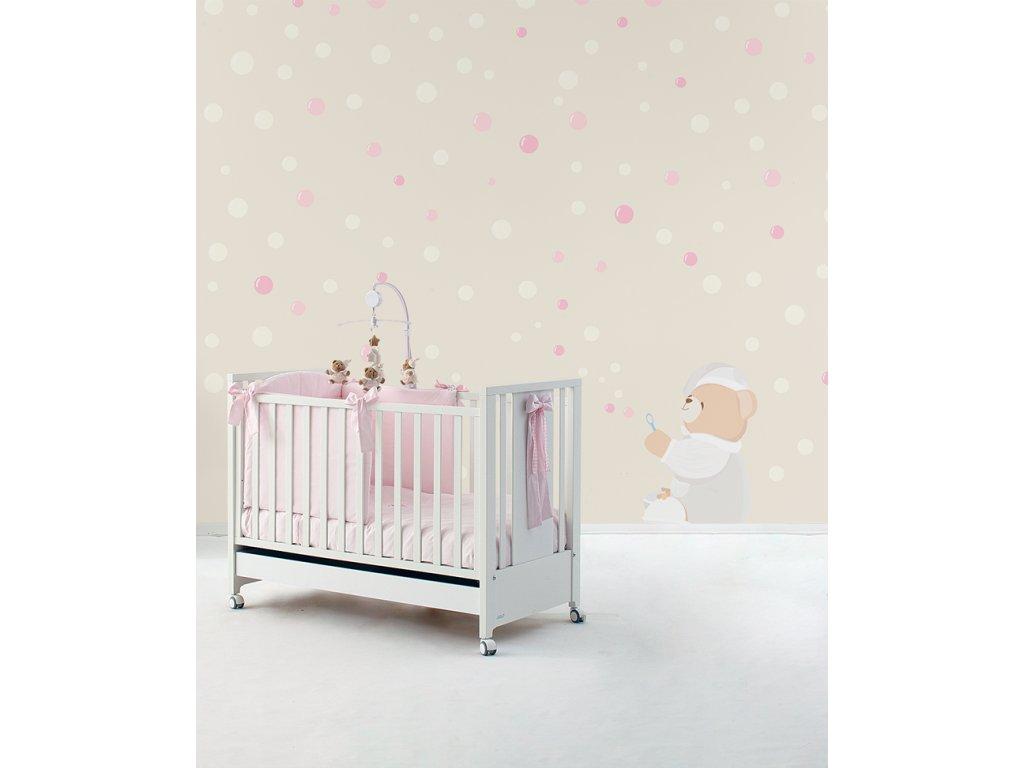 Tato sparabolle Carta da parati Baby Interior Design Wallpaper® per Nanán® 02