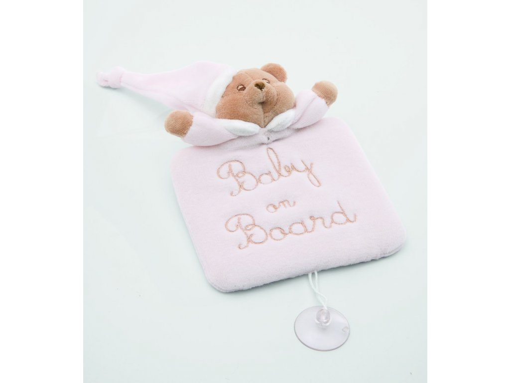 Baby on board pink