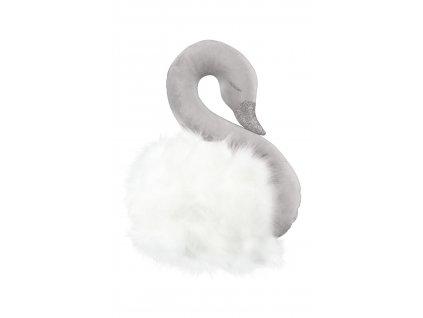 Dekoračná labuť na stenu šedá