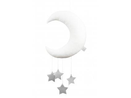 Dekoratívny mesiačik biely