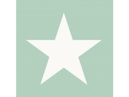 Tapeta Big Star mint green