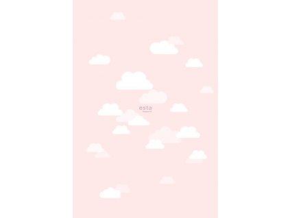 Fototapeta little Clouds light pink