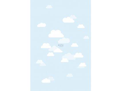 Fototapeta little Clouds light blue