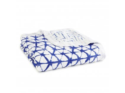 9317G 1 indigo shibori baby blanket silky soft muslin