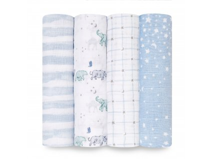 baby cotton muslin swaddle 4 pack rising star 0