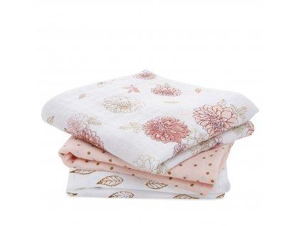1 7248 1 dahlias baby muslin square cotton muslin