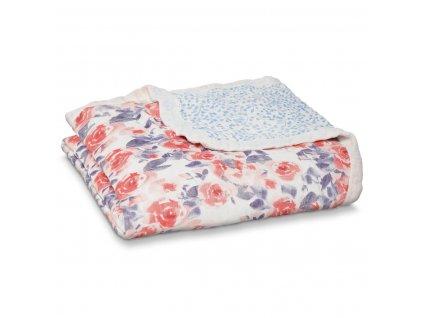 9332g 1 silky soft dream blanketwatercolor garden flower pink purple blue rose eu