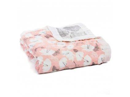 aden anais baby silky soft dream blanket pretty petals 1 9328