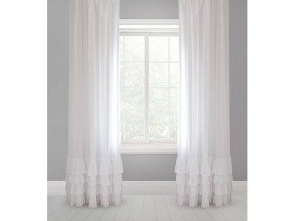 Ready made curtains with flounces