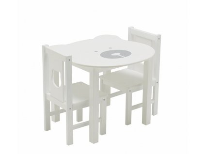 Set small table and 2 chairs teddy bear 1
