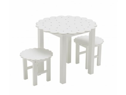 Set small table and 2 chairs round cookie 1