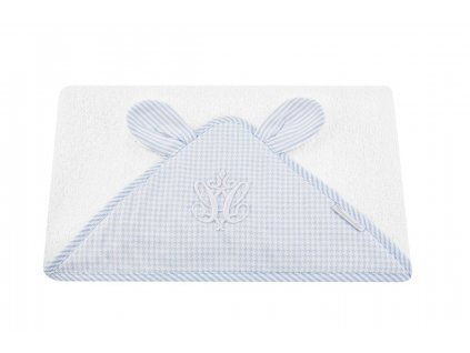 Towel with ears baby blue 1