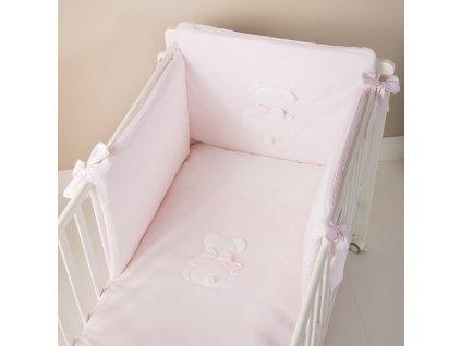set piumone letto 4pz fiocco rosa99026
