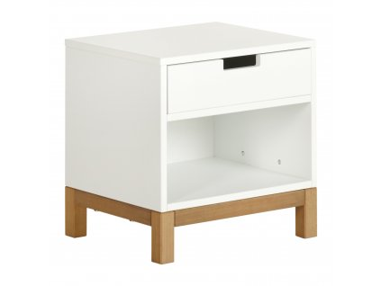 Quax nočný stolík Indigo biely