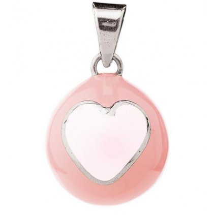 BY bola pink with white heart