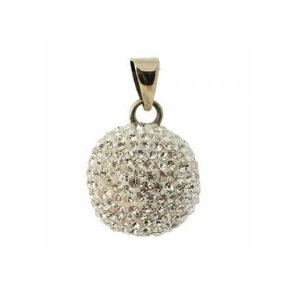 Mexická bola Silverplated with glitter stones VG 600