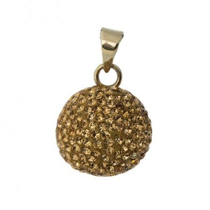Mexická bola Goldplated with glitter stones VG 601