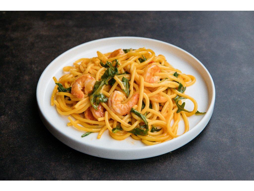 Spaghetti krevety