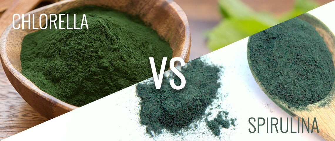 Chlorella vs. Spirulina