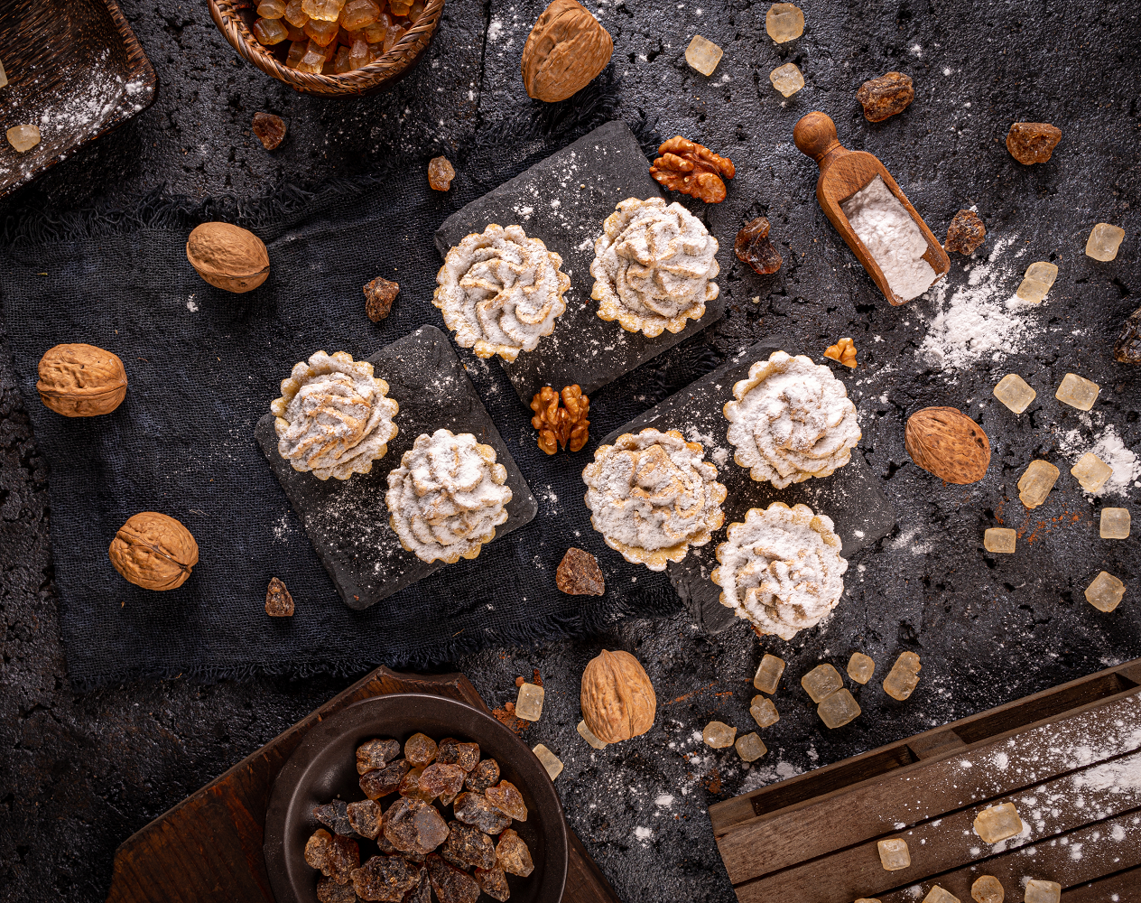 Recept na mandlové tartaletky s pistáciovým krémem