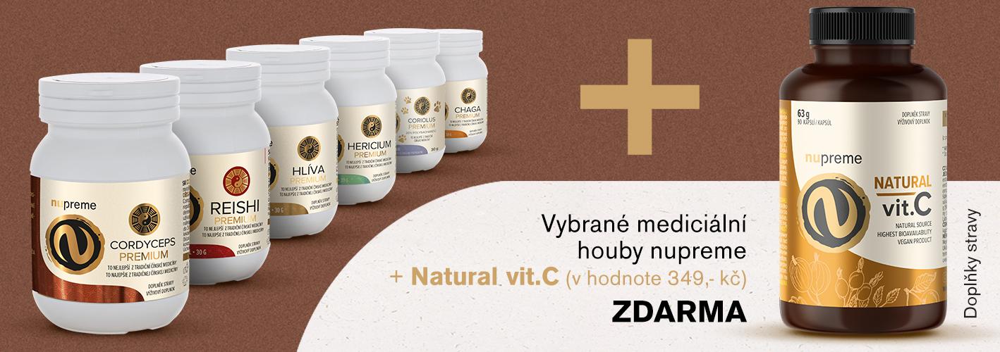 Houby + Natural Vit. C zdarma