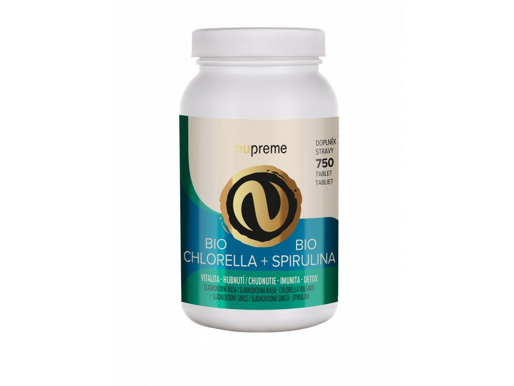 Chlorella+Spirulina nupreme bio podpora hubnutí detox imunita