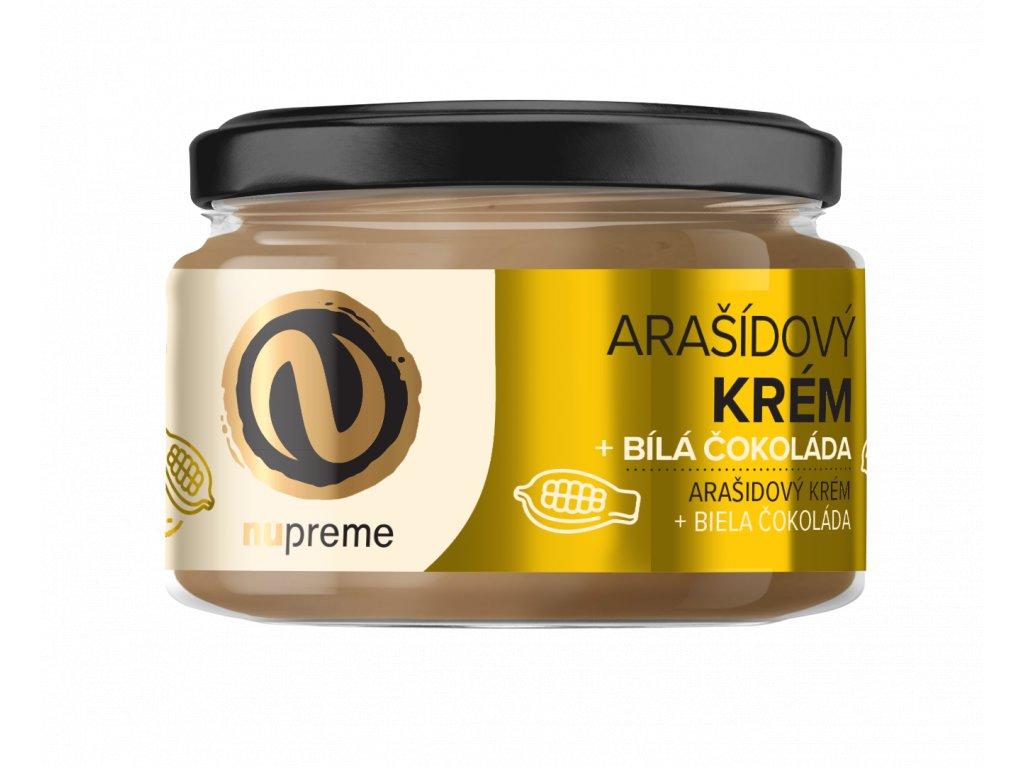 nupreme arasidove maslo bílá čokoláda