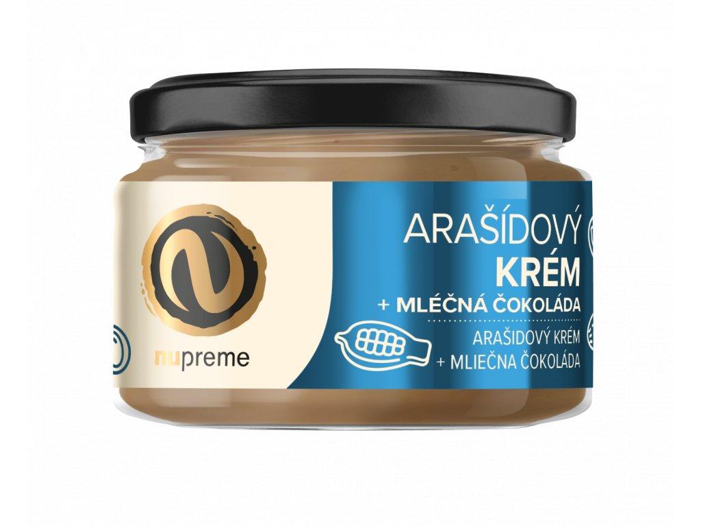 Arašídové máslo s mléčnou čokoládou 220g NUPREME