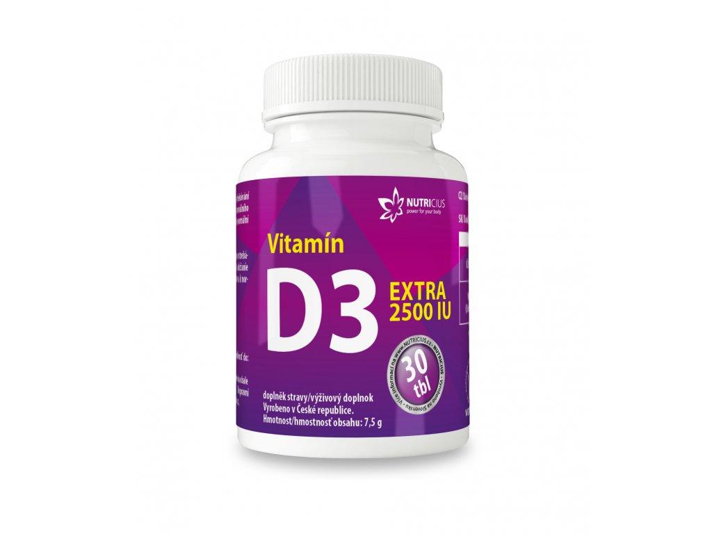 Vitamín D3 EXTRA 30 tbl Nutricius