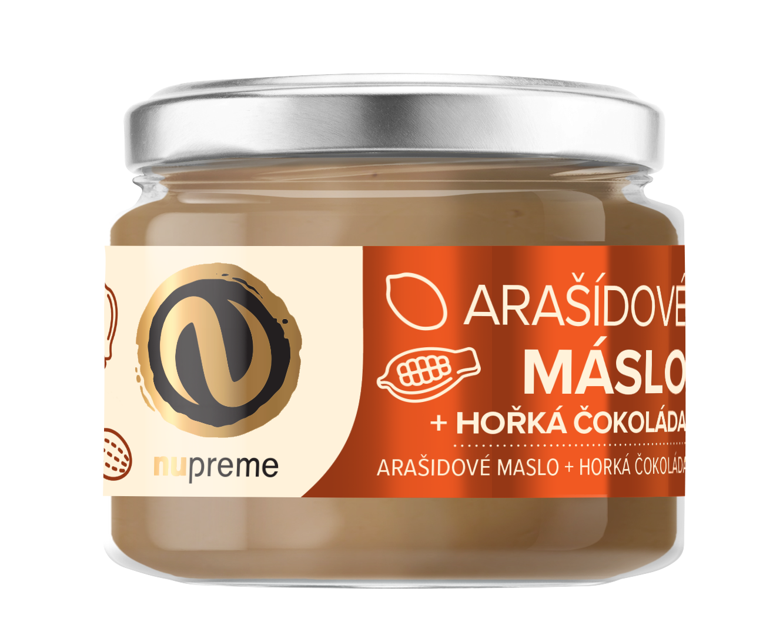 Levně Arašídové máslo s hořkou čokoládou 220g NUPREME