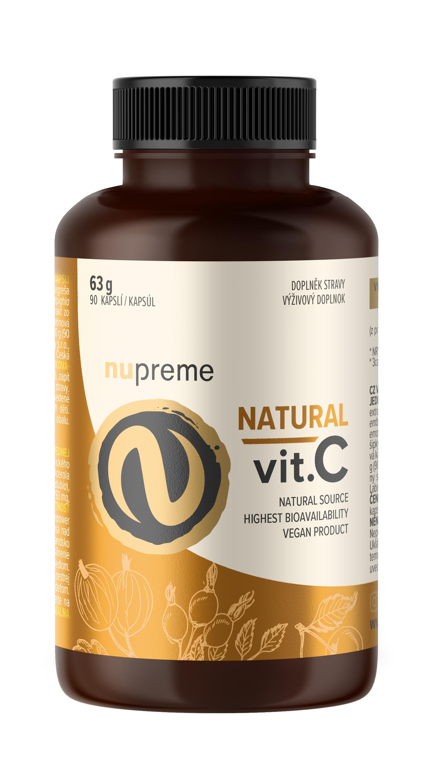 Levně Natural Vitamín C 90 kapslí NUPREME