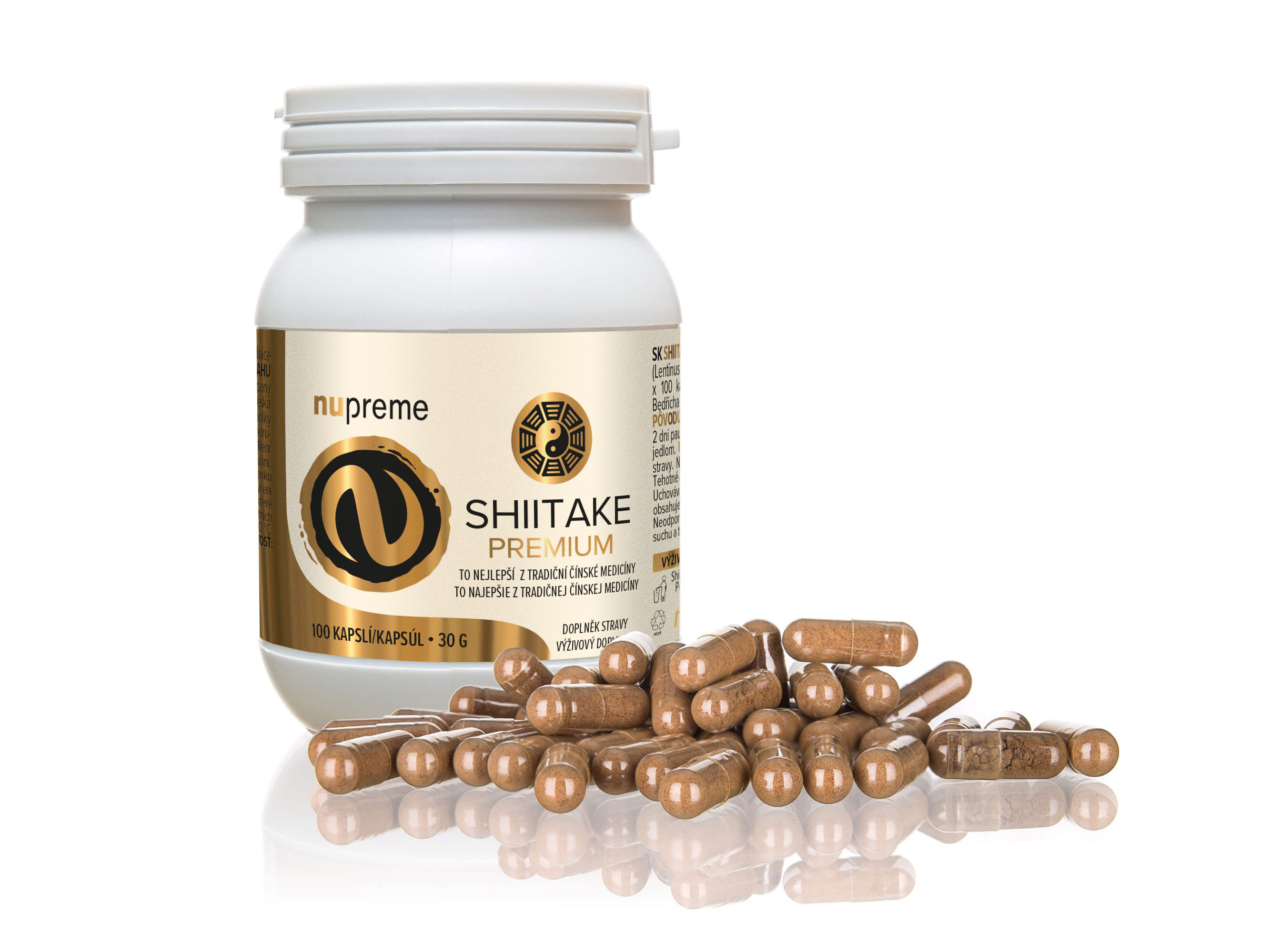 Levně Shiitake extract 100 kapslí NUPREME