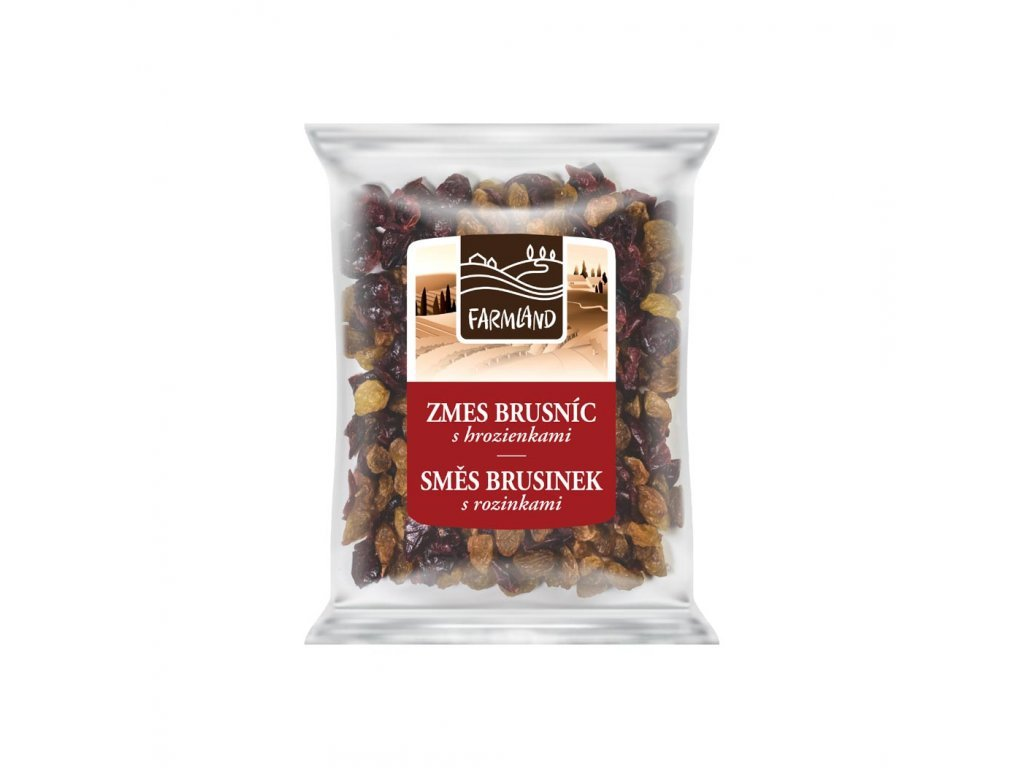 Směs brusinek s rozinkami FARMLAND 100g