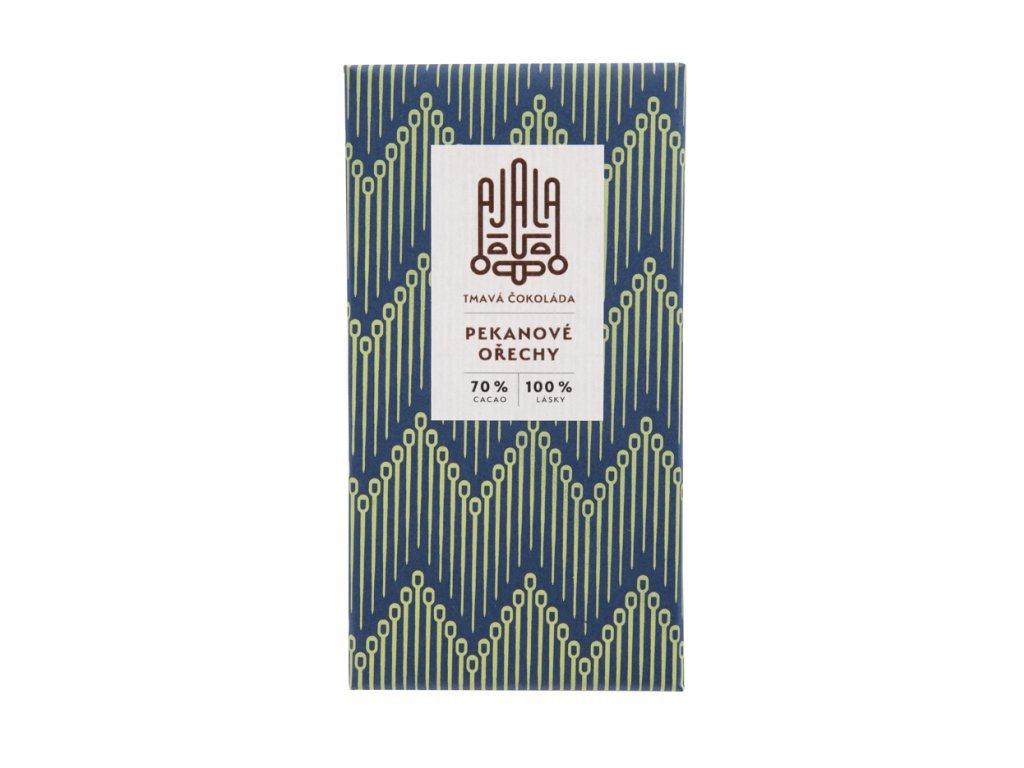 Ajala Tmavá čokoláda - Pekanové ořechy 70% cacao 45g