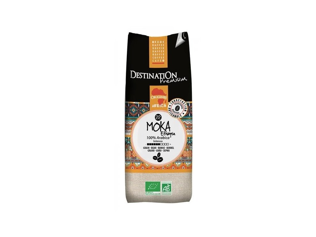 BIO Káva pražená mletá Moka Awasas Ethiopia 100% Arabica DESTINATION 250g