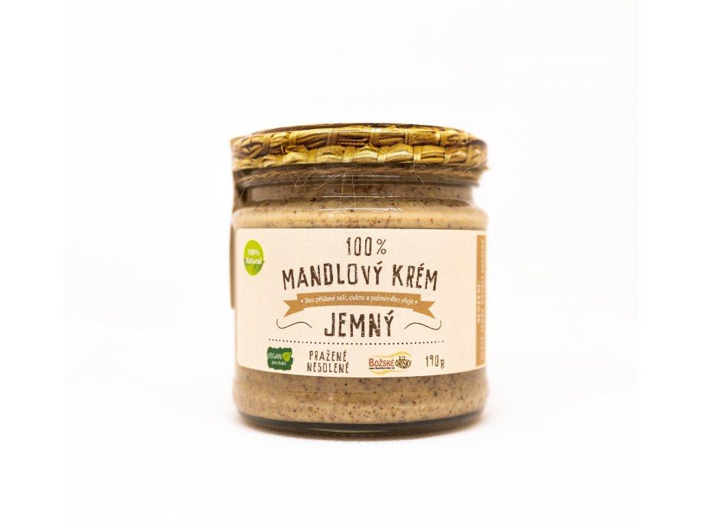 Mandlový krém jemný 100% Božské oříšky 190g