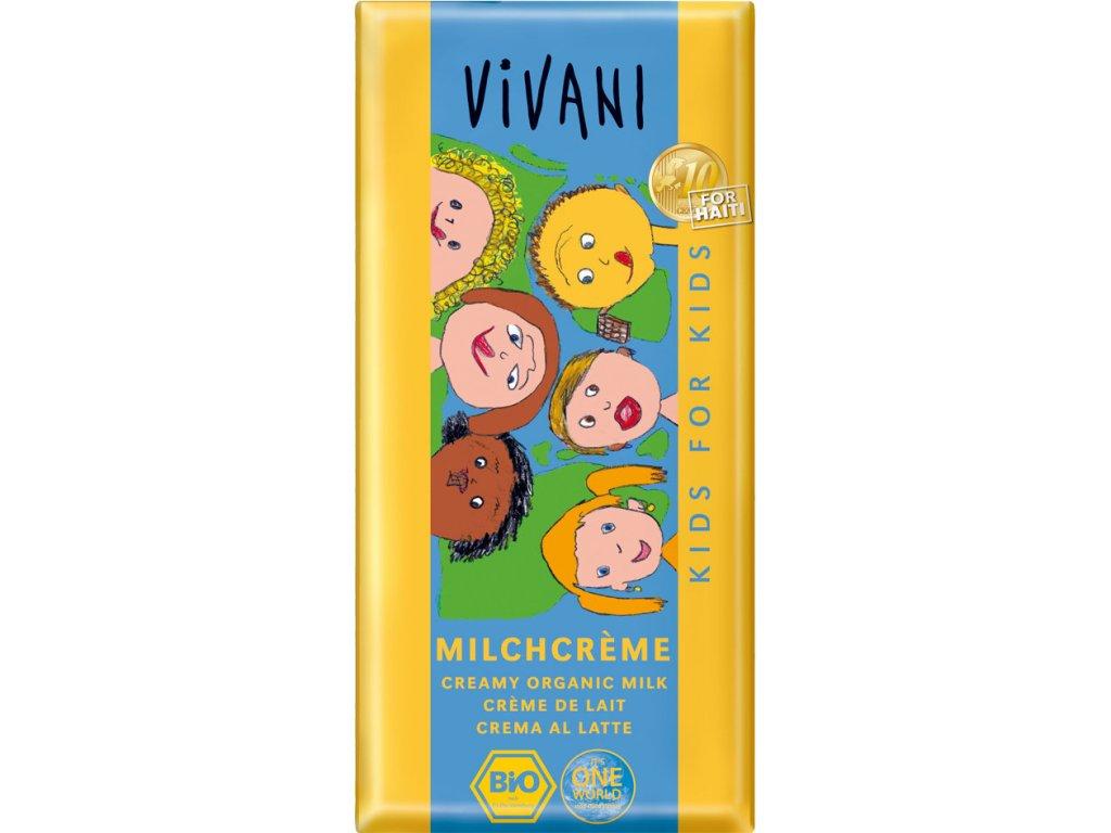 KIDS mléčná čokoláda s mléčnou náplní VIVANI
