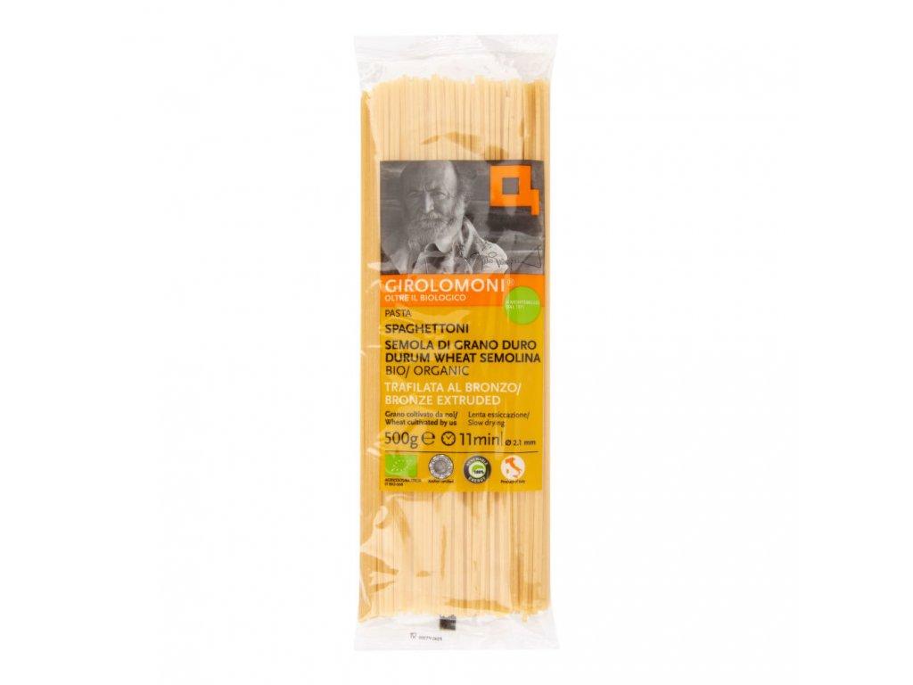 BIO Těstoviny špagety semolinové 2,1mm GIROLOMONI 500g