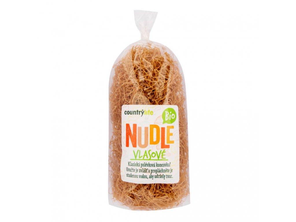 BIO Těstoviny nudle pšeničné vlasové COUNTRY LIFE 200g