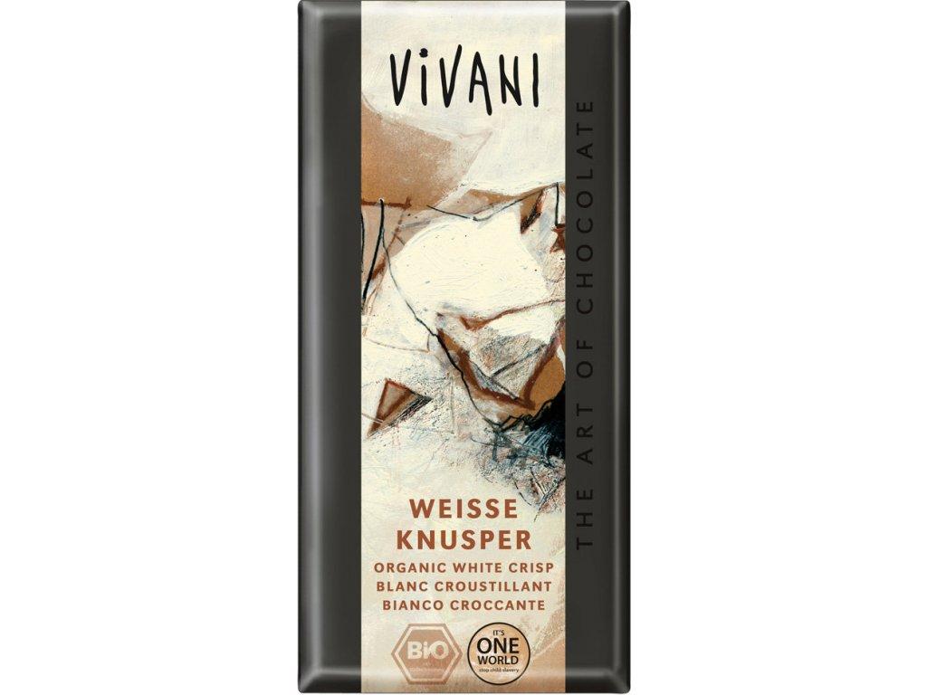 Bílá křupavá čokoláda VIVANI 100g