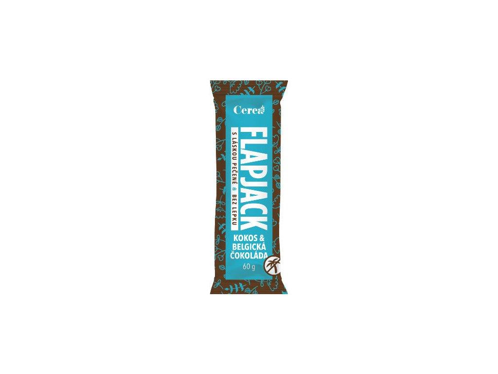 Flapjack belgická čokoláda-kokos CEREA 60g