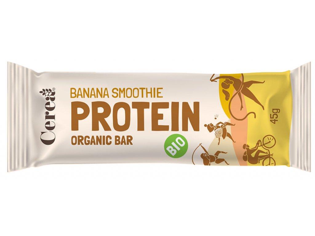 BIO Proteinová tyčinka Banana Smoothie CEREA 45g