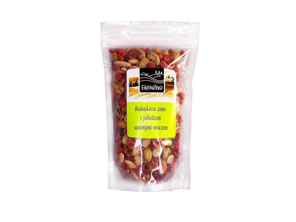 Snídaňová směs s jahodami sušenými mrazem FARMLAND 200g