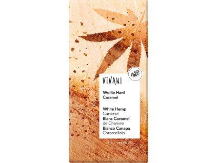 BIO Bílá čokoláda s konopím a karamelem VIVANI 80g