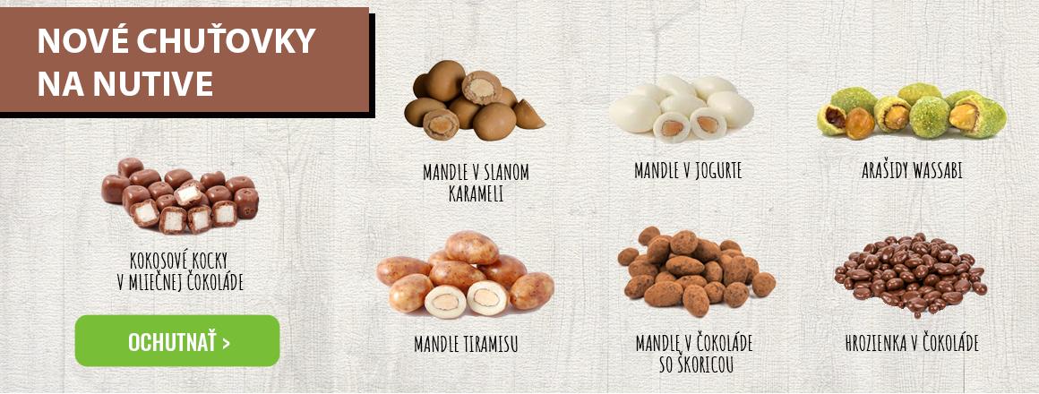 Orechy a ovocie v čokoláde v ponuke na predaj.