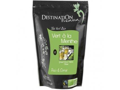 Destination BIO Sypaný čaj zelený s mätou 100g